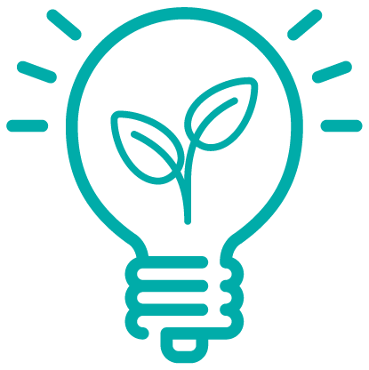 Icon Glühbirne für Innovation