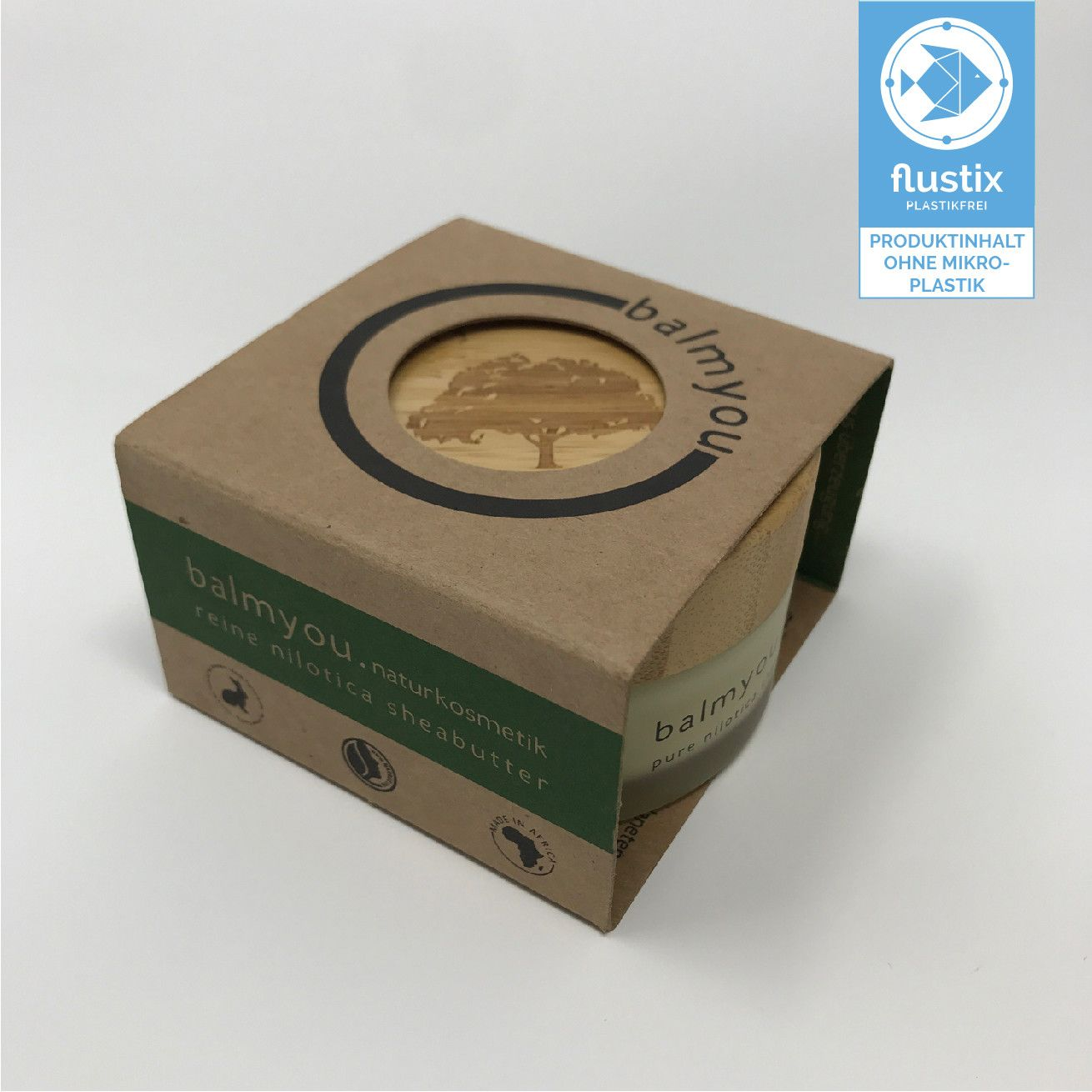 balmyou mikroplastikfrei Flustix-Siegel
