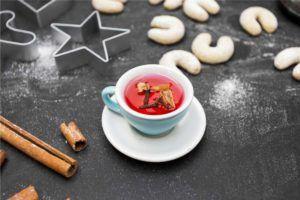Tee und Weihnachtsplätzchen, Zimt Backen und Kochen ohne Kunststoff, plastikfreie Weihnachten
