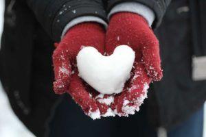 Herz aus Schnee
