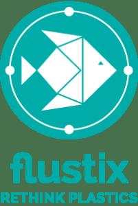 Flustix Logo Rethink Plastics zur Kennzeichnung plastikfreier Produkte