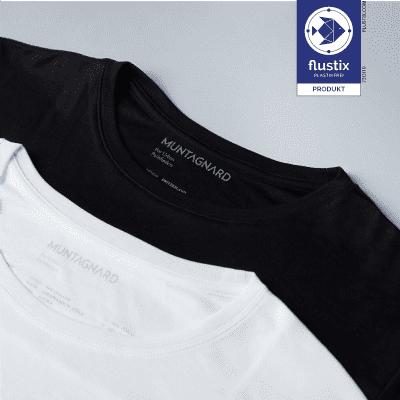 MUNTAGNARD plastikfreies T-Shirt Flustix-Siegel