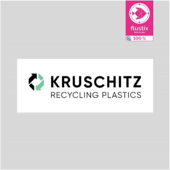 Logo von Kruschitz mit Flustix Recycled-Siegel
