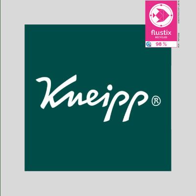 Logo von Kneipp mit Flustix Recycled-Siegel