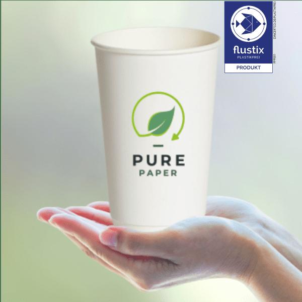Pure paper Cup von BVO International plastikfrei