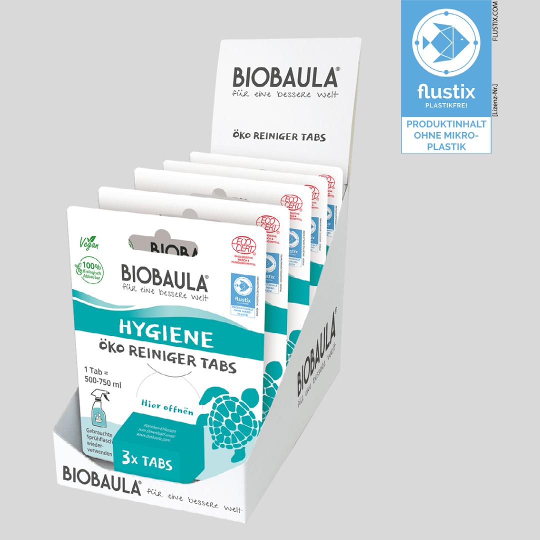BioBaula Reiniger Tabs mit dem Flustix-Siegel