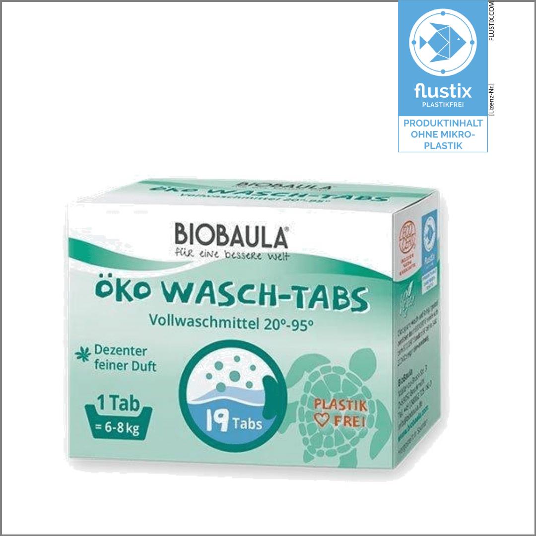 Öko Wasch-Tabs von BioBaula mit dem Mirkoplastikfrei-Siegel