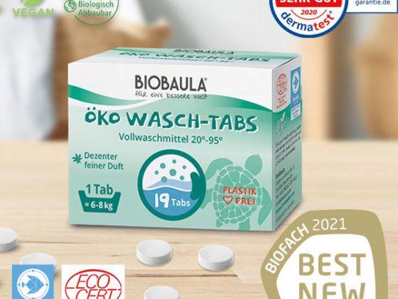 Biobaula Öko Wasch-Tabs Titelbild für die Erfolge von Biobaula